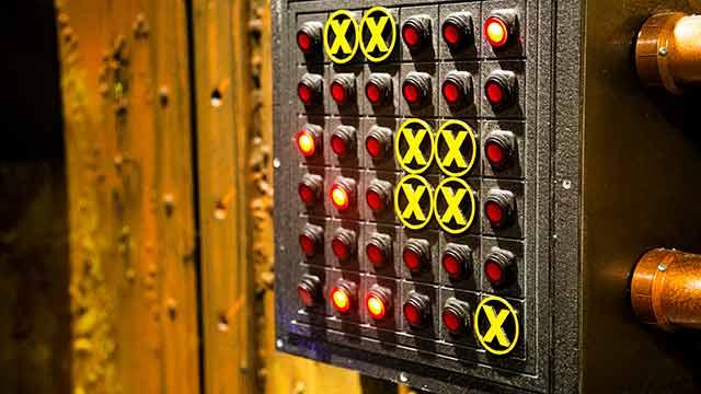 Locktopia Escape Room Houston Antidote room buttons