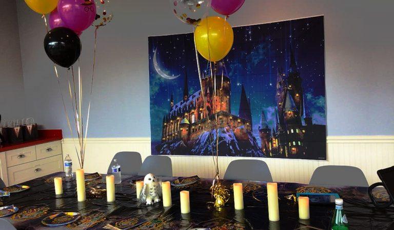 Harry Potter themed birthday at Locktopia Escape Room Houston